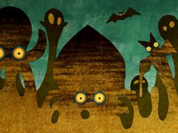 Scène racontant l'ascension de Bellum (Artwork - Scènes racontées par Siwan - Phantom Hourglass)