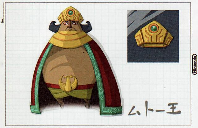 Mutoh, le souverain du Royaume Pavé (Artwork - Concepts Arts de Personnages - Phantom Hourglass)