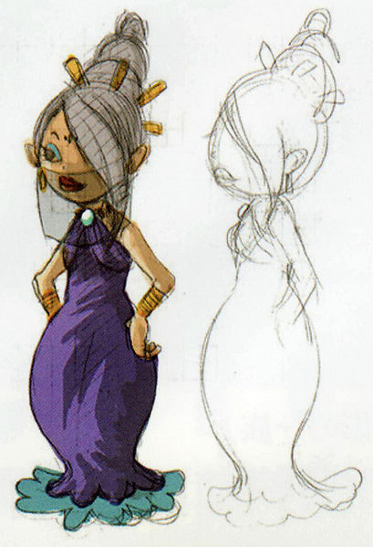 Astrid (Artwork - Concepts Arts de Personnages - Phantom Hourglass)