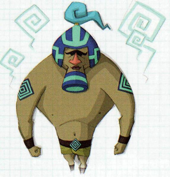 Gary (Artwork - Concepts Arts de Personnages - Phantom Hourglass)