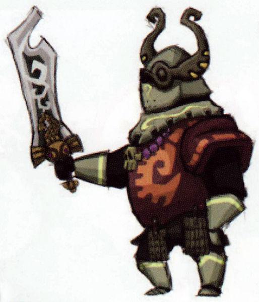 Spectre géant infecté par Bellum (Artwork - Concepts Arts d'ennemis - Phantom Hourglass)