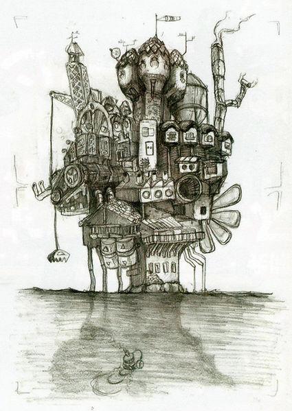 Île mécanique (Artwork - Concepts Arts de lieux - Phantom Hourglass)