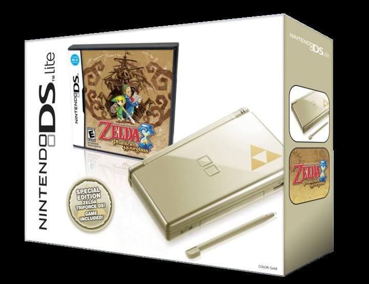 Bundle de Phantom Hourglass et de la DS lite Zelda (Image diverse - Boîtiers - Phantom Hourglass)