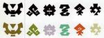 Logos des différentes contrées