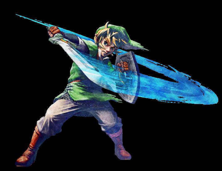 Link faisant une attaque horizontale (Artwork - Link - Skyward Sword)