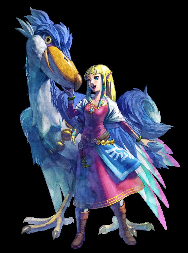 Artwork Zelda et son celestrier skyward sword