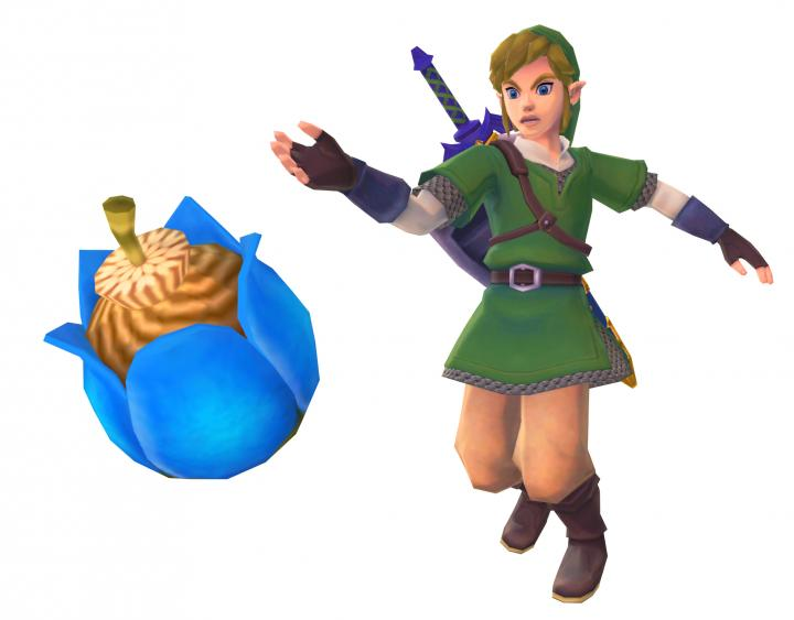 Link lançant une bombe (Artwork - Link - Skyward Sword)