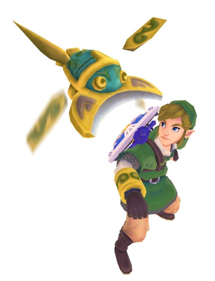 Link utilisant le scarabée (Artwork - Link - Skyward Sword)