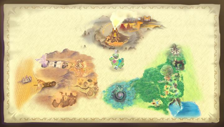 Carte d'Hyrule (Artwork - Illustrations - Skyward Sword)