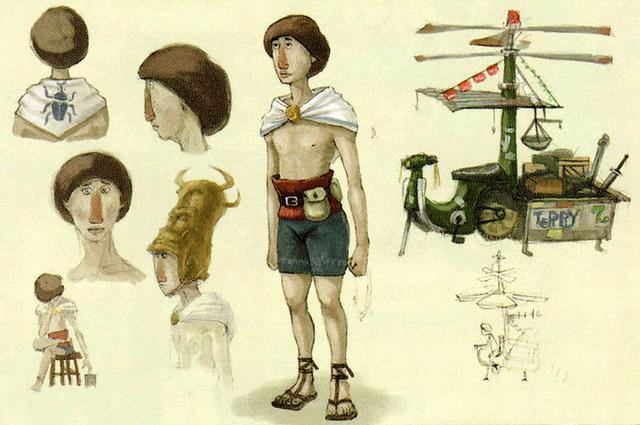 Version finale de Terry (Artwork - Habitants de Célesbourg - Skyward Sword)