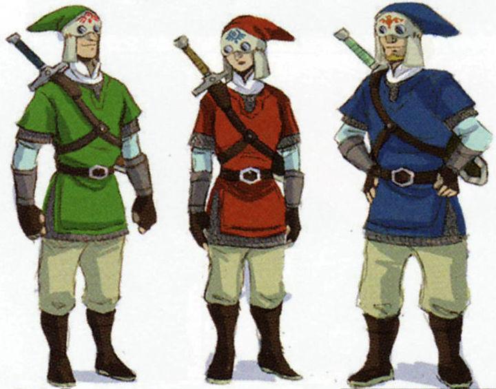 Patrouille de Célestiens (Artwork - Habitants de Célesbourg - Skyward Sword)
