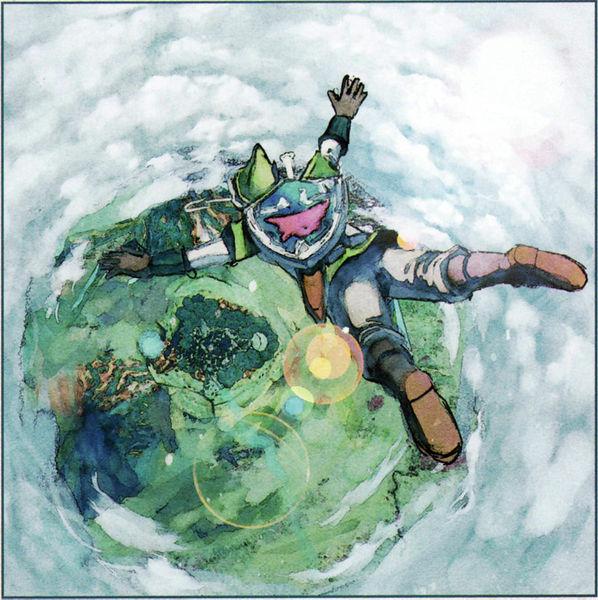Link traversant la barrière de nuage pour arriver dans la forêt de Firone (Artwork - Concept Arts du Ciel et de Célesbourg - Skyward Sword)