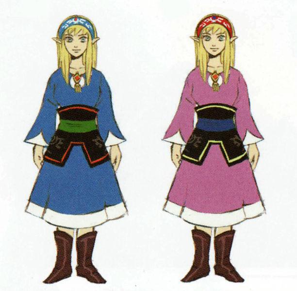 Tenues de Zelda (Artwork - Zelda - Skyward Sword)