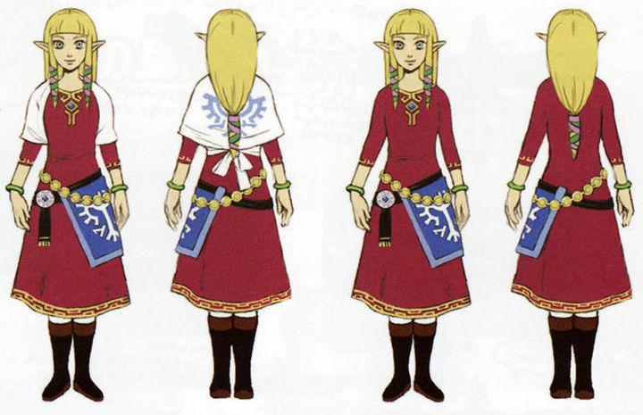 Zelda dans sa tenue de Célesbourg (Artwork - Zelda - Skyward Sword)