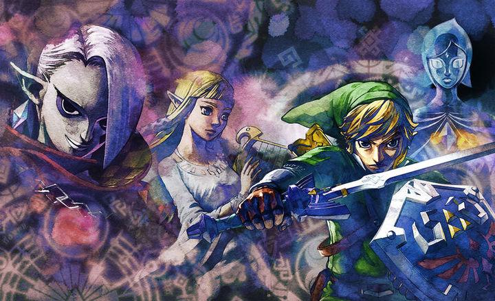 Principaux protagonistes  (Artwork - Illustrations - Skyward Sword)