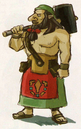 Concept art de Dorco (Artwork - Habitants de Célesbourg - Skyward Sword)