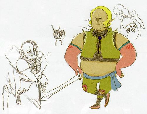 Version finale de Léon (Artwork - Habitants de Célesbourg - Skyward Sword)