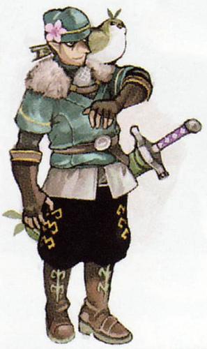 Concept art d'un personnage non utilisé (Artwork - Habitants de Célesbourg - Skyward Sword)