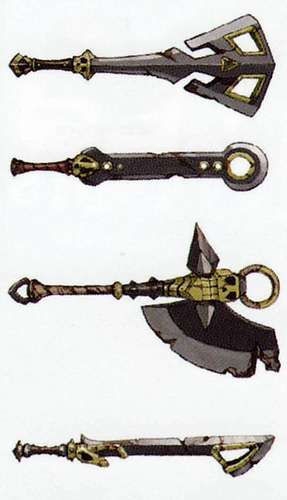 Épées de Stalmaster (Artwork - Mini-boss et boss - Skyward Sword)