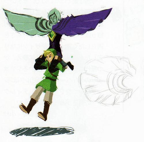 Fay et Link (Artwork - Link - Skyward Sword)