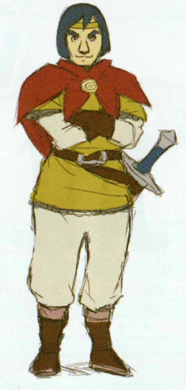 Concept art d'Aquilus (Artwork - Habitants de Célesbourg - Skyward Sword)