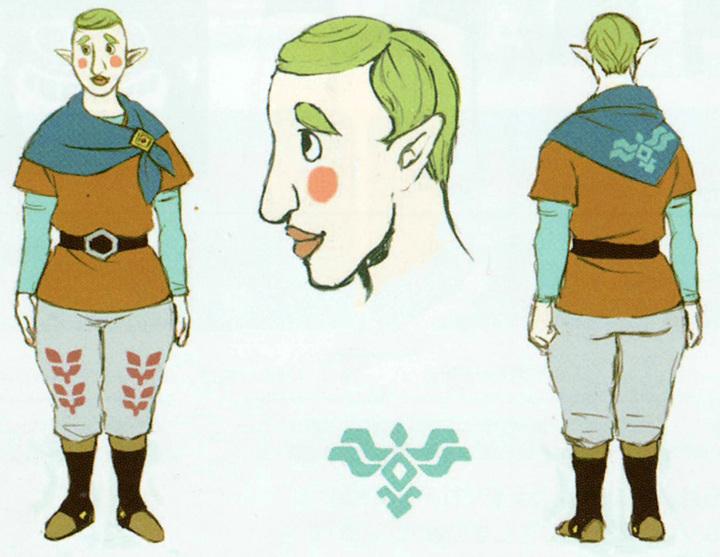 Version finale de Célestin (Artwork - Habitants de Célesbourg - Skyward Sword)