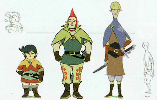 Hergo, Orbo et Latruche (Artwork - Habitants de Célesbourg - Skyward Sword)