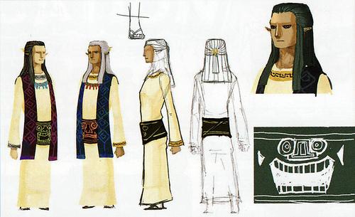 Version finale de Hulul et Arfan (Artwork - Habitants de Célesbourg - Skyward Sword)