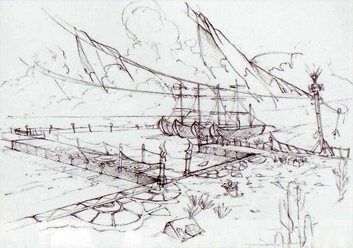 Port ancien (Artwork - Concept Arts d'Hyrule - Skyward Sword)