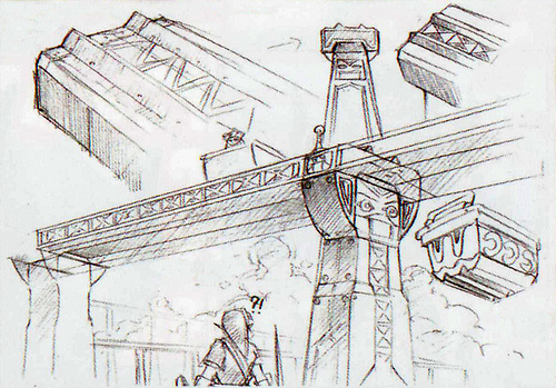 Chantier naval (Artwork - Concept Arts d'Hyrule - Skyward Sword)