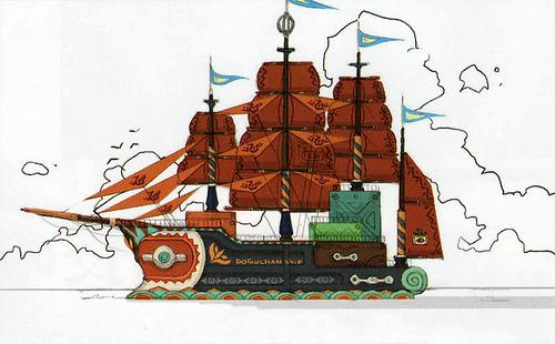 Galion des Sables (Artwork - Concept Arts d'Hyrule - Skyward Sword)