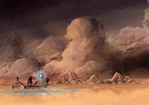 Mer des Sables (Artwork - Concept Arts d'Hyrule - Skyward Sword)