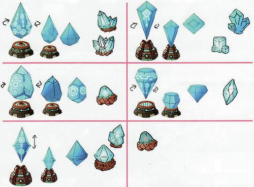 Des chronolithes (Artwork - Concept Arts d'Hyrule - Skyward Sword)