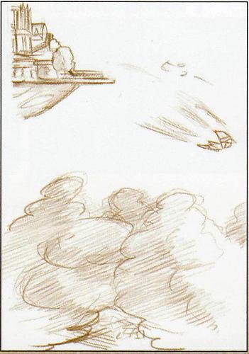 Célesbourg (Artwork - Concept Arts du Ciel et de Célesbourg - Skyward Sword)