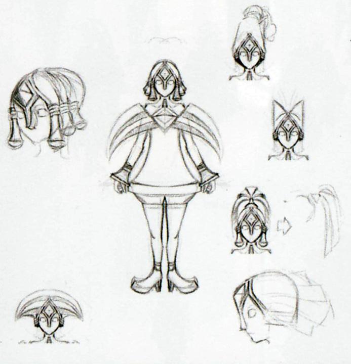 Concept art non utilisé de Fay (Artwork - Fay - Skyward Sword)
