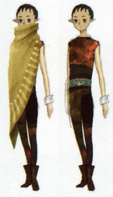 Concept art d'Impa jeune (Artwork - Impa - Skyward Sword)