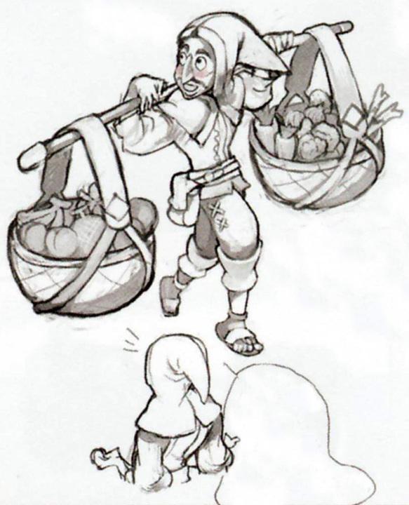 Concept art de Pavelle (Artwork - Habitants de Célesbourg - Skyward Sword)