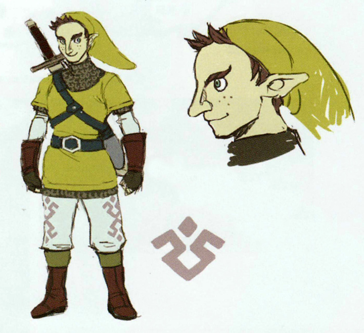 Concept art de Kiko (Artwork - Habitants de Célesbourg - Skyward Sword)