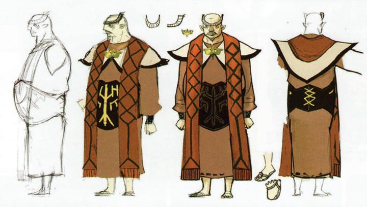 Concept art de Gaepora (Artwork - Habitants de Célesbourg - Skyward Sword)