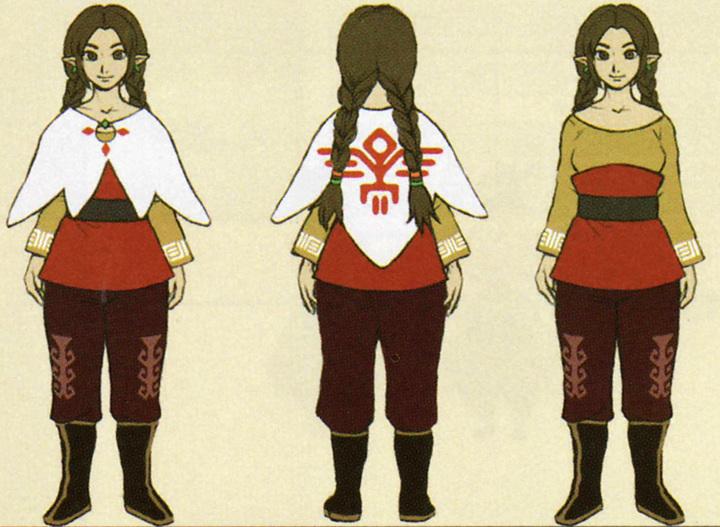 Version finale de Kinaé (Artwork - Habitants de Célesbourg - Skyward Sword)