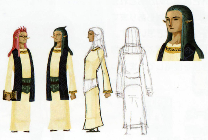 Concept art de Hulul et Arfan (Artwork - Habitants de Célesbourg - Skyward Sword)