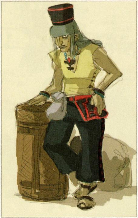 Concept art d'Arpigon (Artwork - Habitants de Célesbourg - Skyward Sword)