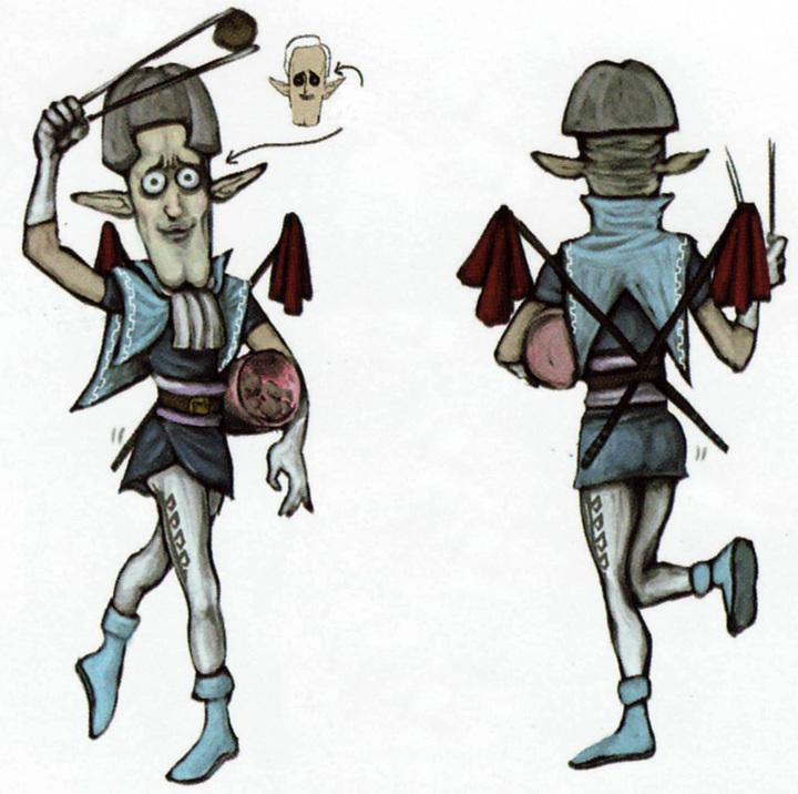 Concept art de personnage non utilisé (Artwork - Habitants de Célesbourg - Skyward Sword)