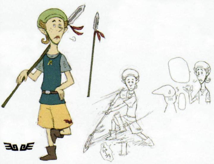 Concept art de Léon (Artwork - Habitants de Célesbourg - Skyward Sword)