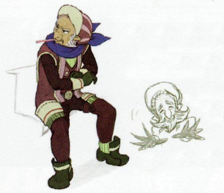 Concept art de Rico (Artwork - Habitants de Célesbourg - Skyward Sword)
