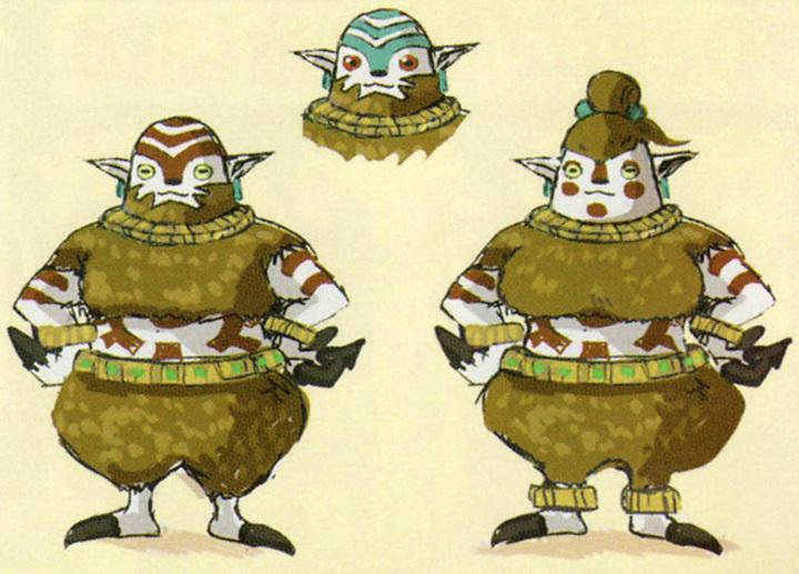 Concept art non utilisé de Mogmas (Artwork - Peuple d'Hyrule - Skyward Sword)
