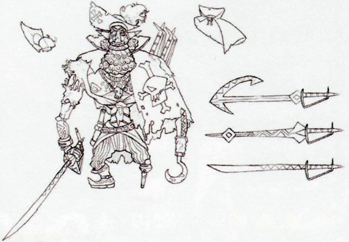 Concept art de Capitaine Zigouille (Artwork - Mini-boss et boss - Skyward Sword)