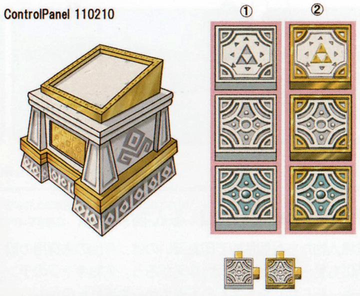 Panneau de contrôle des salles à la tour des Cieux (Artwork - Concept Arts du Ciel et de Célesbourg - Skyward Sword)