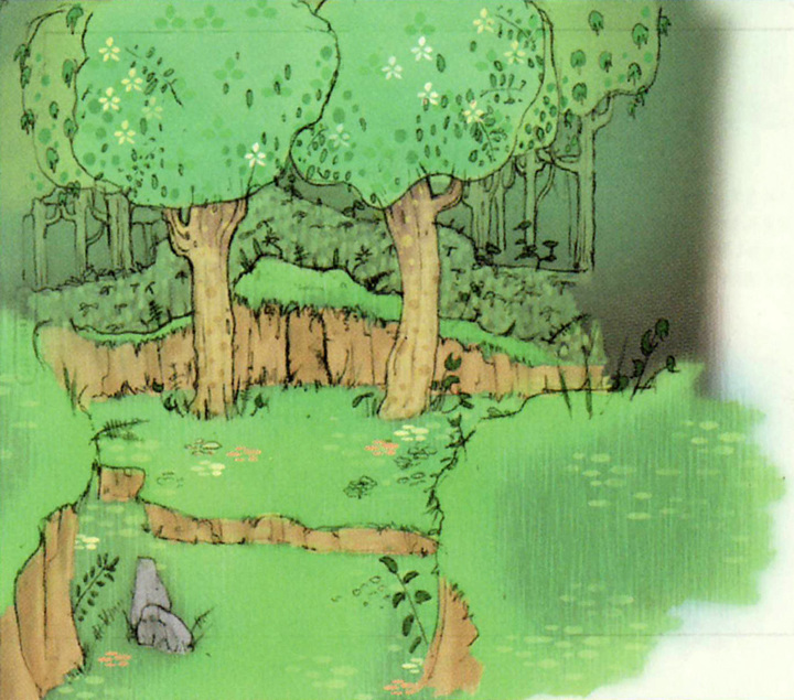 La forêt de Firone (Artwork - Concept Arts d'Hyrule - Skyward Sword)