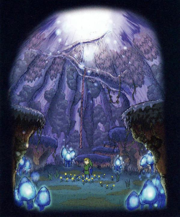 La forêt de Firone (Artwork - Concept Arts d'Hyrule - Skyward Sword)